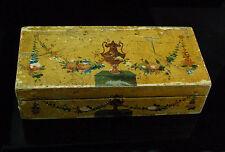 Antiguedad madera-cajita de secretos barroco 18.jh. tejeduría Weaving Wood case Baroque 18th C.