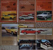 1976-80 TOYOTA Corolla advertisements x4, Toyota COROLLA coupe hatchback TERCEL