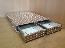 Aluminium 1000mm deep chequer plate drawer Land Rover landrover storage box
