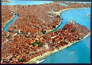 1980s Aerial View of Venice, Piazza San Marco in the Background, Venice, Italy