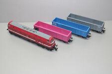 Tillig Digital Zug-Set mit Diesellok Baureihe 219 DB und 3 Hochbordwagen Spur TT