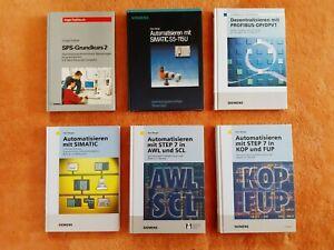 6 Stück Bücher Automatisieren mit SIEMENS SIMATIC STEP 5/7, S5, S7, Hans Berger