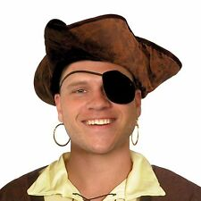 Fancy Dress Brown Distressed Tricorn Hat Pirate Costume Adult Unisex Pirates
