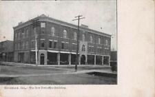 ROCHELLE, IL The New Post Office Building, Illinois Vintage ca 1907 Postcard