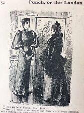 M1a Ephemera 1911 Punch Cartoon My New Frock Aunt Jane