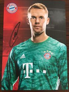Handsignierte AK Autogrammkarte *MANUEL NEUER* FC Bayern München 19/20 2019/2020