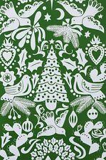 Paloma Navidad Christmas Cutout Alexander Henry Cotton Quilt Fabric 8754 C Green