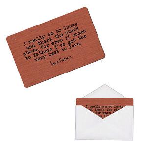 Personalised Father Daddy Dad Sentimental Keepsake Metal Wallet Card Gift
