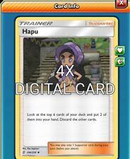 Hapu 4X Pokemon TCG Online PTCGO 200/236 DIGITAL CARD FAST