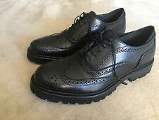 KENNETH COLE Black Label Prene N Proper Leather Oxford, 10M Men's Black shoes