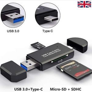 USB 3 TypeC Micro Card Reader Micro-SD/TF Type-C OTG SD USB, Memory card reader