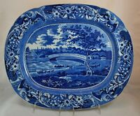 "Stunning Antique Historical Staffordshire Platter ""Upper Ferry bridge"" by Stubbs"