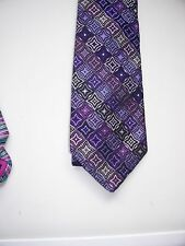 """BNWoT DUCHAMP TIE with a DIAGONAL """"STAR"""" PATTERN mainly MAUVE / SILVER colour"""