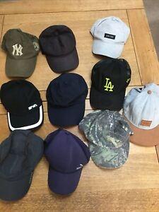 Job Lot/ Bundle baseball caps/ hats x 10