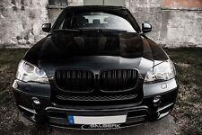 Nieren schwarz hochglänzend beschichtet f. BMW X5 E70 salberk 7001DL Frontgrill
