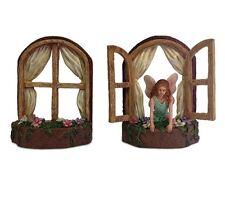 Miniature Fairy Garden Set Window Frames Tree House Ornament Outdoor Home Gift