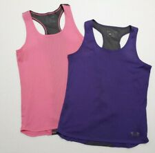 Under Armour Womens Small Mesh Tank Tops Lot of 2