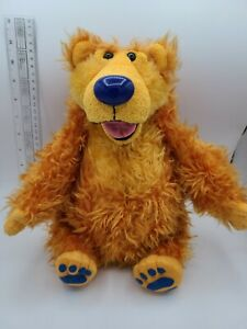 """Vintage Mattel Bear In The Big Blue House Sniffing Talking Plush 15"""" 1999 Tested"""