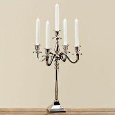 Einarmige Deko-Kerzenständer & -Teelichthalter aus Silber