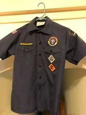 Youth Large Blue Boy Scouts Cub Scout Uniform Shirt Official Bsa Tiger Bobcat
