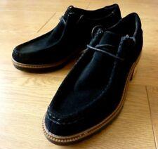 Clarks Ladies Lace up Heel Loafer Suede Black Shoes Size UK 4.5 D EUR 37.5 M