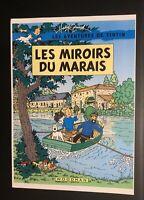 Les aventures de Tintin poster pour pastiche. Les miroirs du marais Harry Edwood