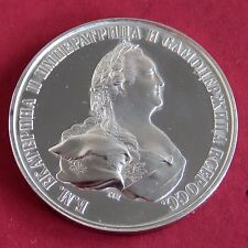 RUSSIA 1796 CATHERINE THE GREAT SILVER PROOF PATTERN COIN/MEDAL ROUBLE - MULE