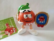 Orange M&M With Santa Hat And Picture Frame Nwt