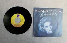 """S VINYLE 45T 7"""" SP MUSIQUE / MADONNA """"LIVE TO TELL"""" 1986 SYNT-POP"""