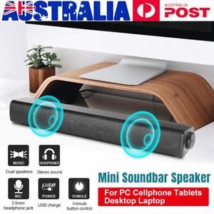 Soundbar Wired Sound Bar USB Speaker for PC Cellphone Tablets Desktop Laptop