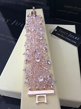 Ladies Designer Rose Gold Diamanté Chunky Beaded Bracelet Jewellery Gift UK