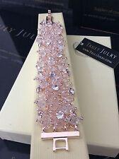 femmes créateur Or Rose Strass Gros perlé bracelet cadeau Bijoux GB