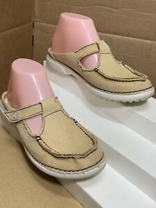 Crocs Beige Slip On Shoes Comfortable Mules Size 7