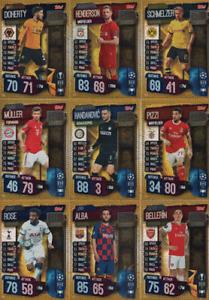 Match Attax 19//20 Liga de Campeones//EUROPA-elige Tarjetas de base de Manchester City