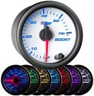 52mm GlowShift White 7 Color LED Diesel Turbo Boost 60 PSI Gauge GS-W701_60