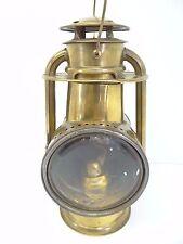 Antique 1888 C.T. Ham MFG Co No 00 Brass Body Driving Lantern Lamp Parts Old