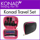 Konad TRAVEL Set for Stamping Nail Art Designs Stamper Scraper 5ml Polish Plate