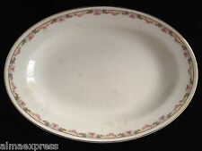 KT&K Knowles Taylor Ivory Semi Vitreous China Roses Yellow SERVING PLATTER B24