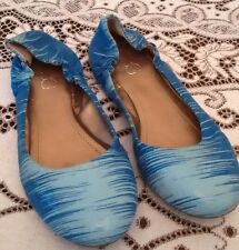 BCBG -Blue and Teal Slip On Flats