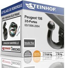 ATTELAGE fixe PEUGEOT 106 3/5-Portes 1996-2004 + FAISC.UNIV.7 broches COMPLET
