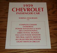 1959 Chevrolet Passenger Car Wiring Diagrams Complete Chassis 59 Chevy