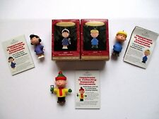 Hallmark Peanuts Christmas Ornaments Charlie Brown Lucy Linus Lot