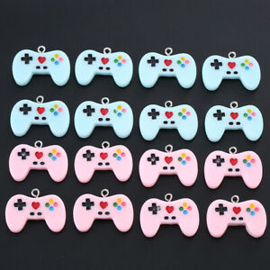 10pcs Mixed Video Game Controller Charms Flatback Pendant Diy Jewelry Findings