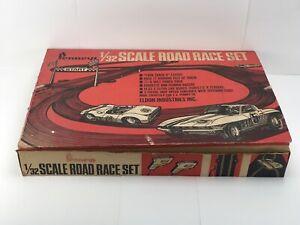 1/32 Scale Road Race Set By Penney's 1966 Eldon Industries Corvette Ferrari 5860