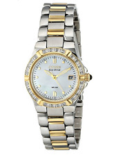 NWT Ladies Citizen EW0894-57D Eco-Drive Riva Stainless Diamond Accented Watch