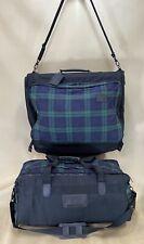 """Andiamo USA Cordura Plaid Luggage Set 22"""" Bifold Garment Bag & 24"""" Duffle Bag"""