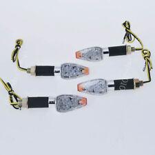 4x14 LED Bulbs Amber Motorcycle Turn Signal Indicator Light chrome 12V Universal