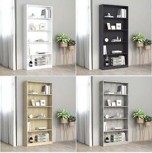 80x24x175 cm 5-Tier Book Storage Cabinet Display Rack Bookcase Organizer