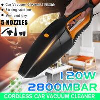 12V 120W Handheld Car Vacuum Cleaner Portable Dry Wet Vehicle Carava