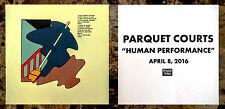 PARQUET COURTS Human Performance Ltd Ed RARE Sticker +FREE Indie Rock Stickers!